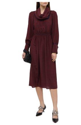 Женское шерстяное платье FENDI бордового цвета, арт. FDA867 AC6S | Фото 2