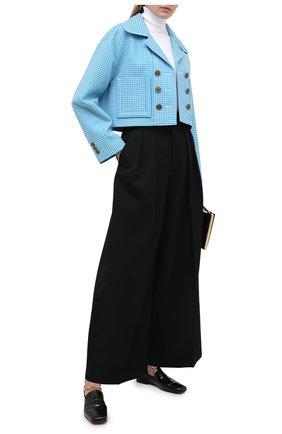 Женский шерстяной жакет FENDI синего цвета, арт. FJ7095 AC6R | Фото 2