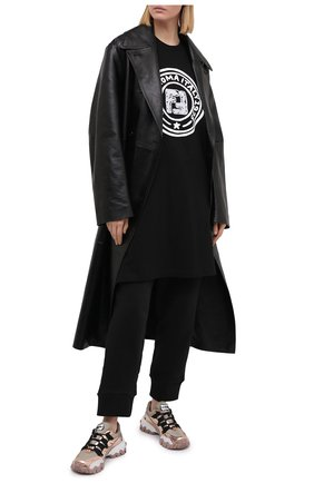 Женская хлопковая футболка FENDI черного цвета, арт. FS7307 AC6E | Фото 2