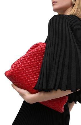 Женский клатч pouch BOTTEGA VENETA красного цвета, арт. 639296/V01D0 | Фото 2