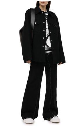 Женская хлопковый свитшот DOLCE & GABBANA черно-белого цвета, арт. F9I53T/FI79D | Фото 2