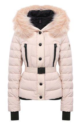 Женский пуховая куртка MONCLER светло-розового цвета, арт. F2-098-1A510-02-5399E | Фото 1