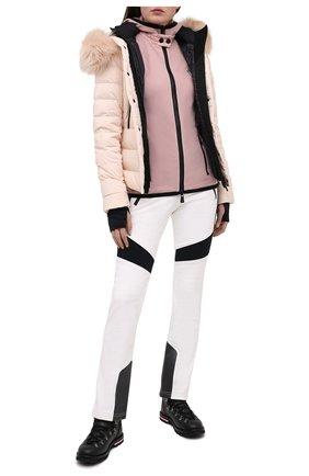 Женский пуховая куртка MONCLER светло-розового цвета, арт. F2-098-1A510-02-5399E | Фото 2