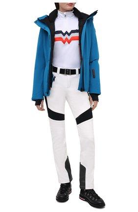 Женский пуховая куртка MONCLER бирюзового цвета, арт. F2-098-1A803-40-53066 | Фото 2