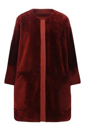 Женская дубленка LORO PIANA бордового цвета, арт. FAL2391 | Фото 1