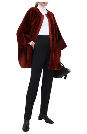Женская дубленка LORO PIANA бордового цвета, арт. FAL2391 | Фото 2