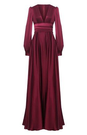 Женское шелковое платье DOLCE & GABBANA бордового цвета, арт. F6K2PT/FU1NG | Фото 1