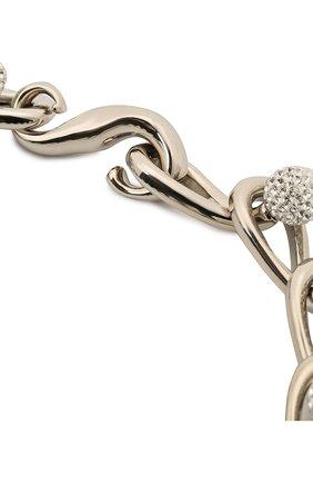 Женское колье LOEWE серебряного цвета, арт. J646241X11   Фото 2 (Материал: Металл)