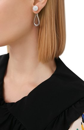 Женские серьги LOEWE серебряного цвета, арт. J647239X16   Фото 2 (Материал: Металл)