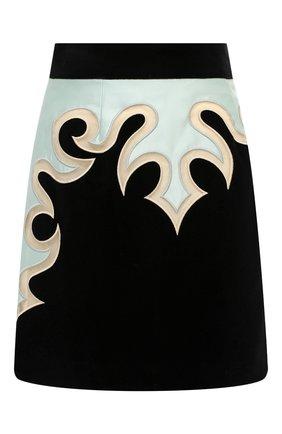 Женская хлопковая юбка ZIMMERMANN черного цвета, арт. 9450SLAD | Фото 1