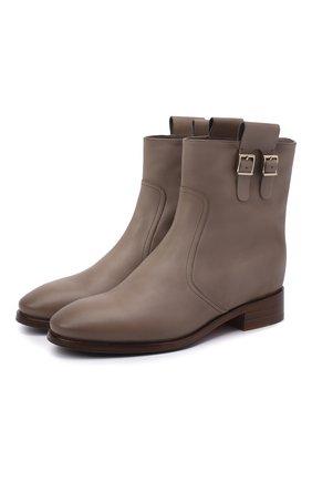 Женские кожаные ботинки SANTONI серого цвета, арт. WTNH58839BJ2NLGAE41 | Фото 1