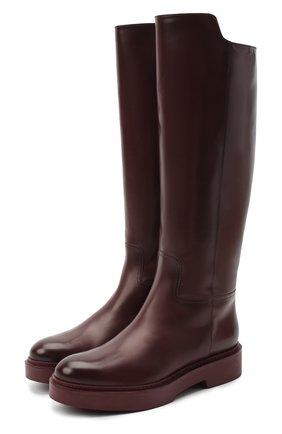 Женские кожаные сапоги SANTONI бордового цвета, арт. WSHW59034B0RQBCKB40 | Фото 1