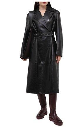 Женские кожаные сапоги SANTONI бордового цвета, арт. WSHW59034B0RQBCKB40 | Фото 2