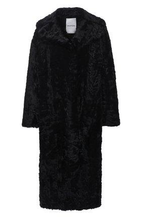 Женская шуба из овчины VALENTINO черного цвета, арт. UF3FA420CAF | Фото 1