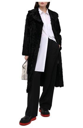Женская шуба из овчины VALENTINO черного цвета, арт. UF3FA420CAF | Фото 2