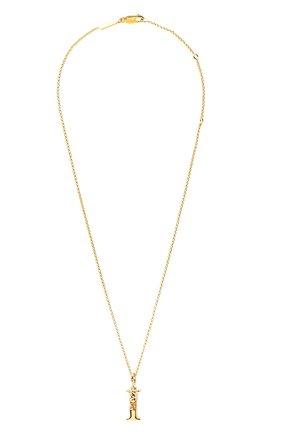 Женская кулон на цепочке alphabet CHLOÉ золотого цвета, арт. CHC20SF02ICB7 | Фото 1 (Материал: Металл)