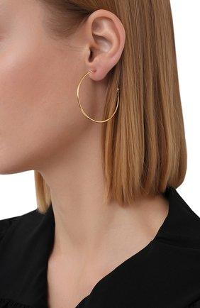 Женские серьги CHLOÉ золотого цвета, арт. CHC19SFE61CB7 | Фото 2 (Материал: Металл)