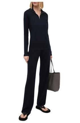 Женские кашемировые брюки LORO PIANA темно-синего цвета, арт. FAL2570   Фото 2