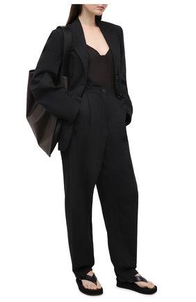 Женские шерстяные брюки ACNE STUDIOS серого цвета, арт. AK0286 | Фото 2