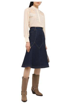 Женская джинсовая юбка SEE BY CHLOÉ темно-синего цвета, арт. CHS20WDJ01150 | Фото 2