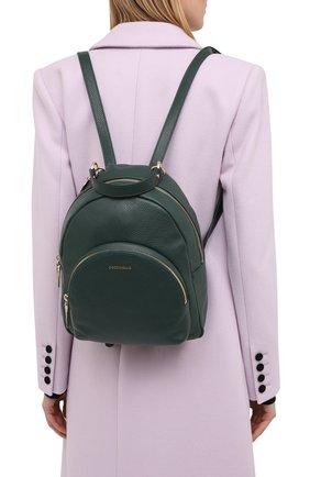 Женский рюкзак alpha COCCINELLE зеленого цвета, арт. E1 GS5 14 01 01 | Фото 2