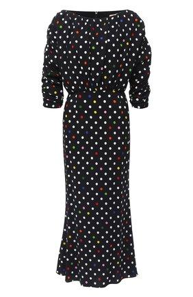 Женское платье из вискозы CHRISTOPHER KANE черного цвета, арт. PF20 DR3571 BIG D0T SABLE CREPE | Фото 1