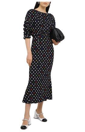 Женское платье из вискозы CHRISTOPHER KANE черного цвета, арт. PF20 DR3571 BIG D0T SABLE CREPE | Фото 2