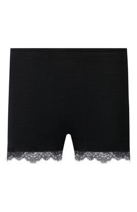 Женские шорты из шерсти и шелка HANRO черного цвета, арт. 072846 | Фото 1