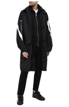 Мужские кожаные кеды perforation 1017 ALYX 9SM черного цвета, арт. AAUSN0014LE01 | Фото 2