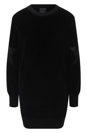 Женская хлопковый свитшот LORENA ANTONIAZZI черного цвета, арт. SI2018FZ008/999 | Фото 1