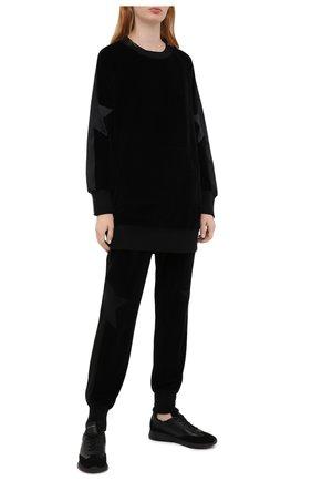 Женская хлопковый свитшот LORENA ANTONIAZZI черного цвета, арт. SI2018FZ008/999 | Фото 2