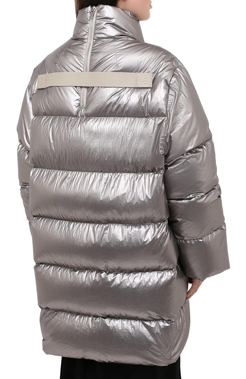 Женский пуховик moncler + rick owens RICK OWENS серебряного цвета, арт. MU20F0004/C0634 | Фото 4