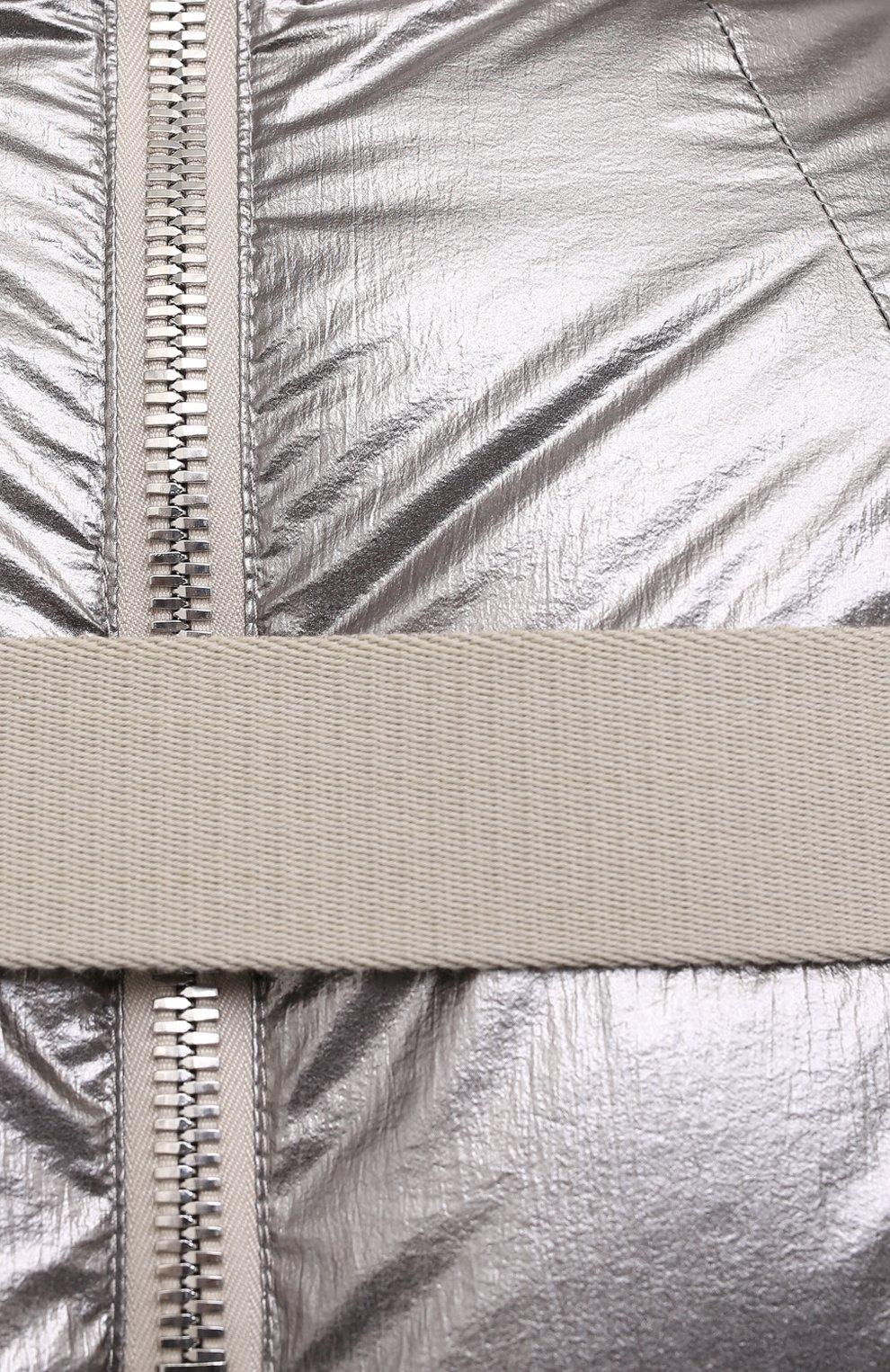Женский пуховик moncler + rick owens RICK OWENS серебряного цвета, арт. MU20F0004/C0634 | Фото 5