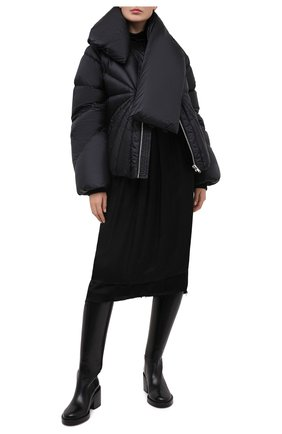 Женский пуховая куртка moncler + rick owens RICK OWENS черного цвета, арт. MU20F0007/C0596 | Фото 2