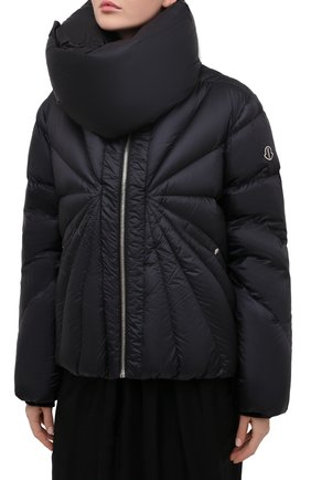 Женский пуховая куртка moncler + rick owens RICK OWENS черного цвета, арт. MU20F0007/C0596 | Фото 3