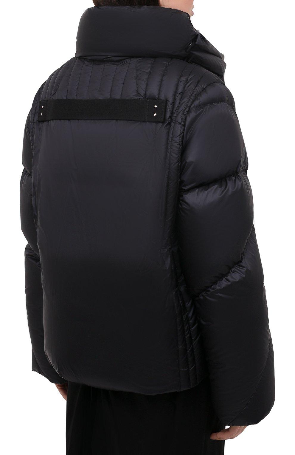 Женский пуховая куртка moncler + rick owens RICK OWENS черного цвета, арт. MU20F0007/C0596 | Фото 4