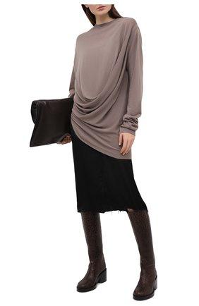 Женский кашемировый пуловер moncler + rick owens RICK OWENS серого цвета, арт. MU20F0018/A9453   Фото 2