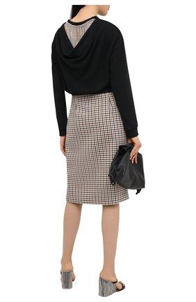 Женская хлопковый свитшот AREA черного цвета, арт. PF20T11050 | Фото 2