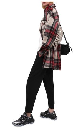 Женские текстильные кроссовки valentino garavani VALENTINO черного цвета, арт. UW0S0U78/JCB   Фото 2