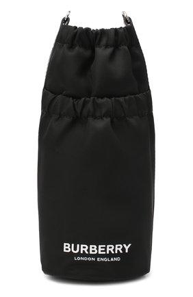 Женская сумка water bottle mini BURBERRY черно-белого цвета, арт. 8032960 | Фото 1 (Размер: mini; Ремень/цепочка: На ремешке; Материал: Текстиль; Сумки-технические: Сумки через плечо)