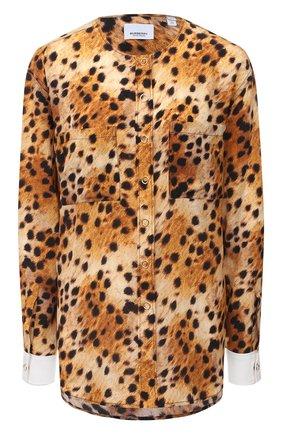 Женская шелковая блузка BURBERRY коричневого цвета, арт. 4566851 | Фото 1