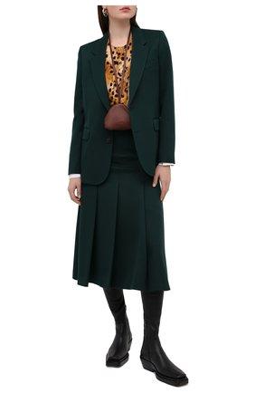 Женская шелковая блузка BURBERRY коричневого цвета, арт. 4566851 | Фото 2