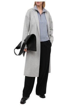 Женское шерстяное пальто HELMUT LANG светло-серого цвета, арт. K06HW402   Фото 2