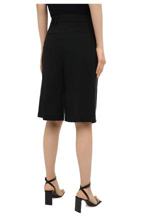 Женские шерстяные шорты RACIL черного цвета, арт. RS11-P02-HUG0 TR0PICAL W00L | Фото 4 (Женское Кросс-КТ: Шорты-одежда; Материал внешний: Шерсть; Кросс-КТ: Широкие; Длина Ж (юбки, платья, шорты): До колена; Стили: Романтичный)