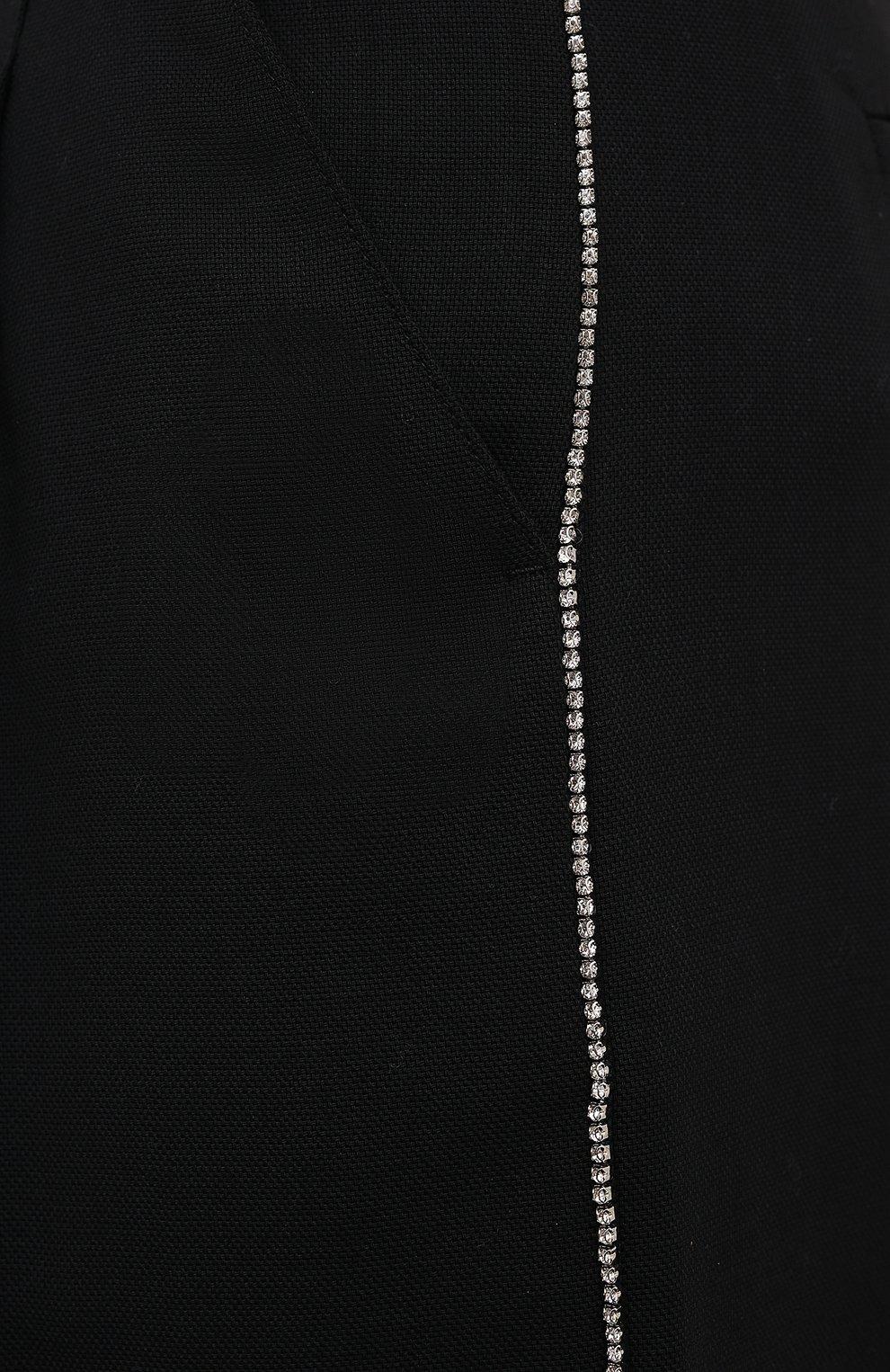 Женские шерстяные шорты RACIL черного цвета, арт. RS11-P02-HUG0 TR0PICAL W00L | Фото 5 (Женское Кросс-КТ: Шорты-одежда; Материал внешний: Шерсть; Кросс-КТ: Широкие; Длина Ж (юбки, платья, шорты): До колена; Стили: Романтичный)