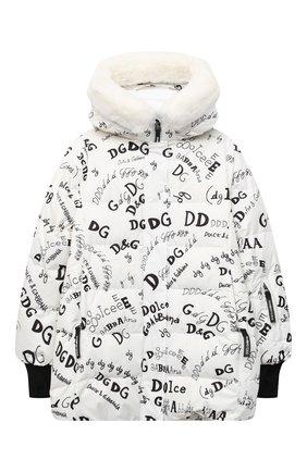 Детская куртка DOLCE & GABBANA белого цвета, арт. L5JBIC/FSSER | Фото 1