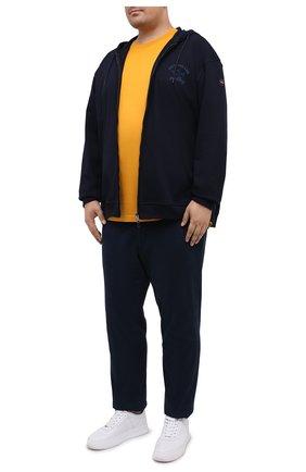 Мужская хлопковая толстовка PAUL&SHARK темно-синего цвета, арт. C0P1022/C00/3XL-6XL | Фото 2