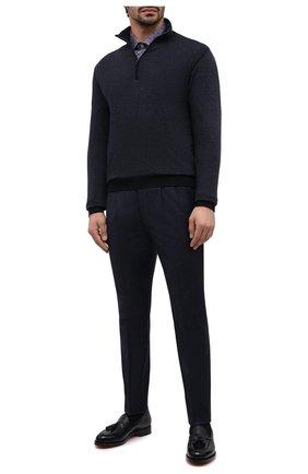 Мужская хлопковая рубашка ETON синего цвета, арт. 1000 01810 | Фото 2
