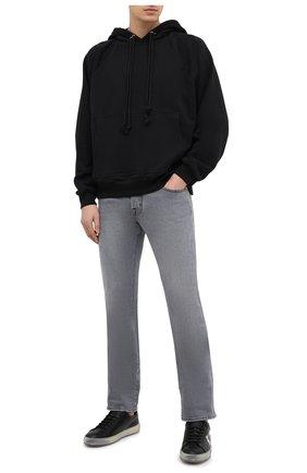 Мужские кожаные кеды PHILIPP PLEIN черно-белого цвета, арт. F20S MSC2833 PLE075N | Фото 2