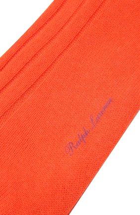 Мужские кашемировые носки RALPH LAUREN оранжевого цвета, арт. 450825663 | Фото 2